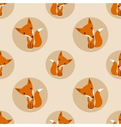 Graphically foxes in cartoon style vector
