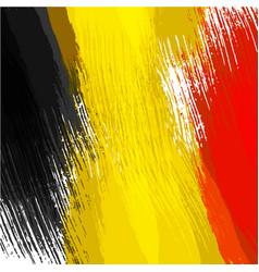 grunge background in colors belgian flag vector image