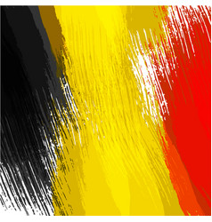 Grunge background in colors of belgian flag vector