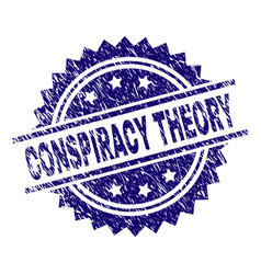 Grunge textured conspiracy theory stamp seal vector
