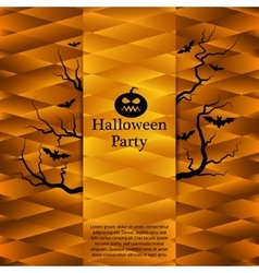 Halloween party poster Abstract background vector image