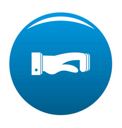 Hand concept icon blue vector