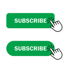 hand cursor clicks subscribe button vector image
