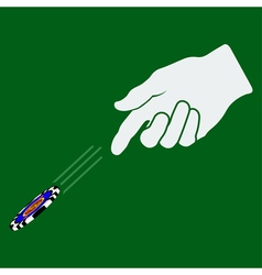 Hand Throwing Gambling Chip vector