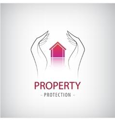 Home security business symbol Unique icon concept vector