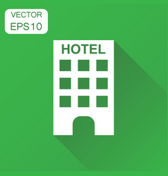 hotel icon business concept hotel pictogram on vector image