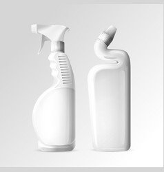 household chemicals of toilet vector image