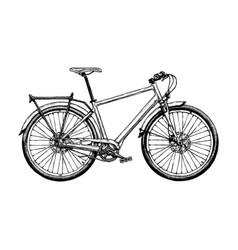 hybrid bicycle vector image