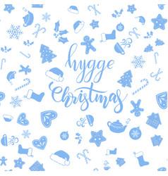 Hygge christmas brush calligraphy vector