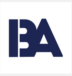 Iba ba initials letter company logo vector