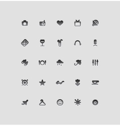 Icons for entertainment vector