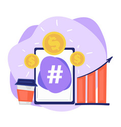 increasing sales using social media channels vector image