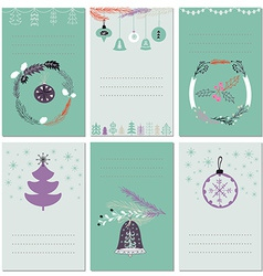 Invitation Christmas cards with place for text vector