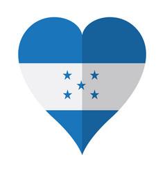 isolated flag of honduras on a heart shape vector image