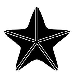 isolated seastar icon vector image