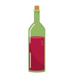 Isolated wine bottle design vector