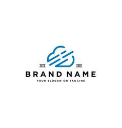 Letter e cloud logo design vector