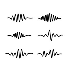 Line sound waves icon on white background vector