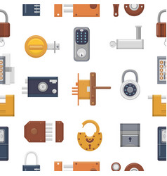lock padlock with keyhole for safety and vector image