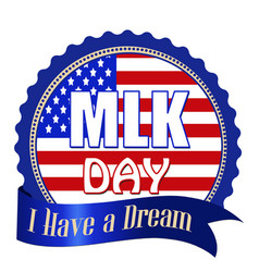 Martin luther king day label sticker or stamp vector