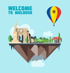 Moldova country infographic map in 3d vector