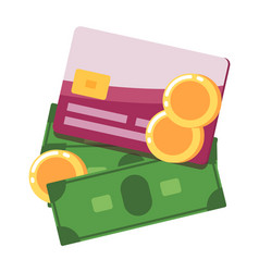 money icon in flat design vector image