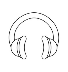 Music headphones technology vector