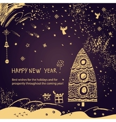New Year wishes vector image