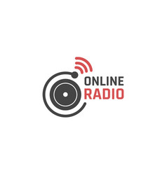 online radio icon vector image