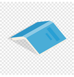open book with blue cover isometric icon vector image