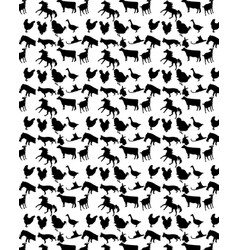 Pattern with pets vector