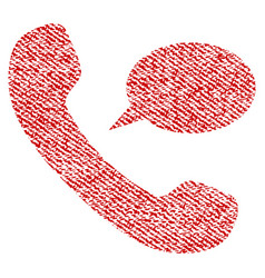 phone message fabric textured icon vector image