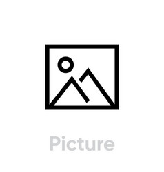 Picture icon editable stroke vector