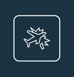 Plane crash icon line symbol premium quality vector