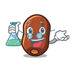 Professor dates fruit character cartoon vector