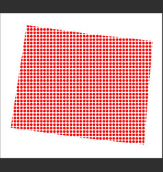 red dot map of wyoming vector image