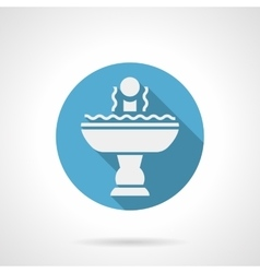 Refreshing fountain blue round icon vector