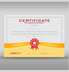 Retro gold and grey certificate vector