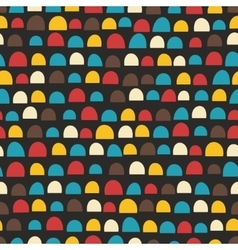 Retro seamless pattern with half of circles vector image