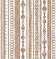 Seamless doodles ethnic pattern vector