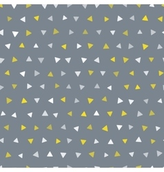 seamless trendy triangle geometric pattern vector image