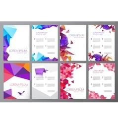 Set flyers brochures abstract design 2 vector