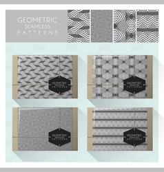 Set of geometric seamless pattern 2 vector
