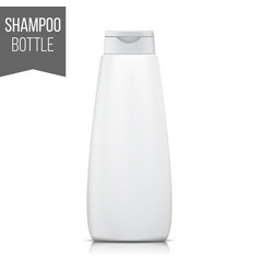 shampoo packaging isolated blank realistic vector image