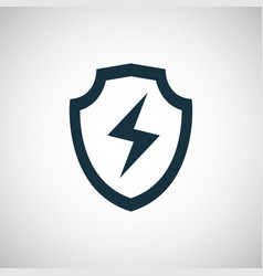 shield energy icon for web and ui on white vector image