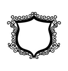 shield ornament badge vector image