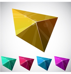 Shiny vibrant pyramid vector