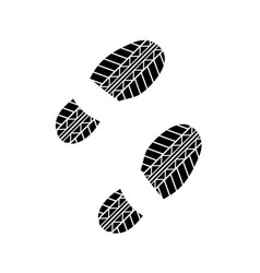 shoes tire track vector image