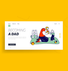 single father prepared gift for son website vector image