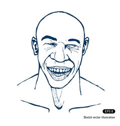 Smiling man vector image